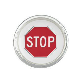 USA Stop Sign Photo Rings