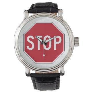 USA Stop Sign Wrist Watch
