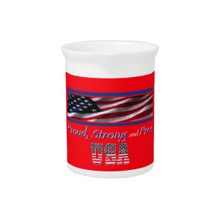 USA Strong Beverage Pitcher