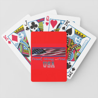 USA Strong Bicycle Playing Cards
