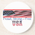 USA Strong Drink Coasters