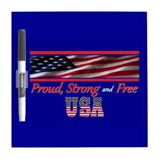 USA Strong Dry Erase White Board