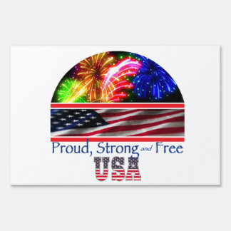 USA Strong Lawn Sign