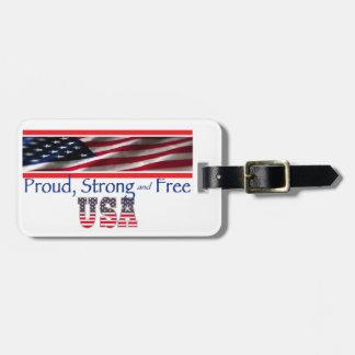 USA Strong Luggage Tag