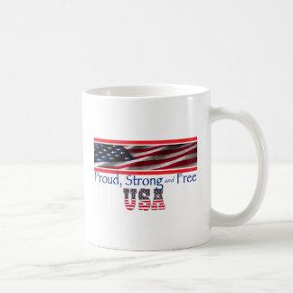 USA Strong Coffee Mugs