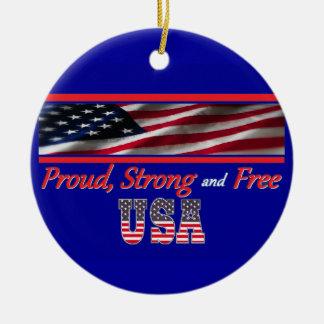 USA Strong Christmas Ornaments
