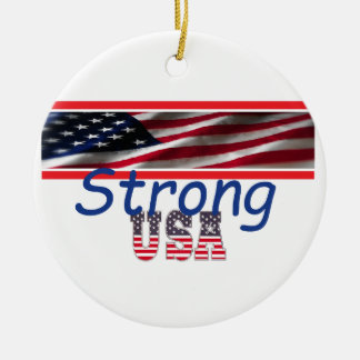 USA Strong Christmas Ornament