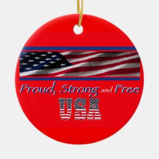 USA Strong Christmas Tree Ornaments