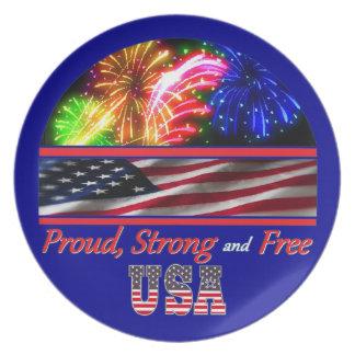 USA Strong Plate