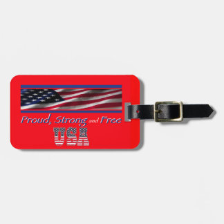 USA Strong Tag For Luggage