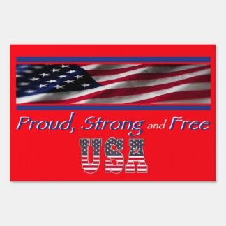 USA Strong Yard Sign