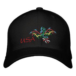 USA SUN  DRAGON EMBROIDERED BASEBALL HAT