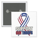 USA Support Our Troops 2 Inch Square Button