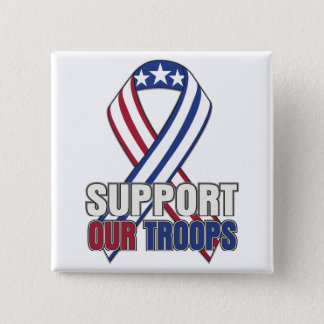 USA Support Our Troops Pinback Button