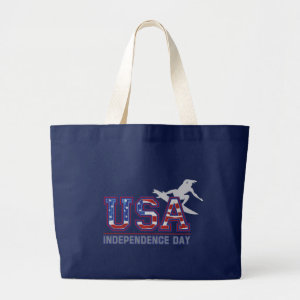 USA Surfer Independence Day Beach Bag bag