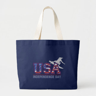 USA Surfer Independence Day Beach Bag