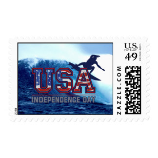 USA Surfer Independence Day Postage