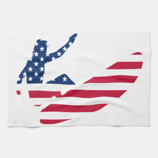 USA surfing American surfer Towel