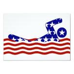 USA Swimmer 3.5x5 Paper Invitation Card