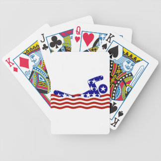 USA Swimmer Bicycle Playing Cards