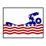 USA Swimmer Postcard