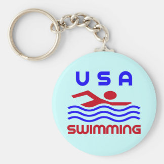 USA SWIMMING KEYCHAIN