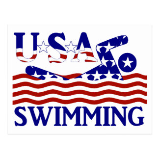 USA Swimming Postcard