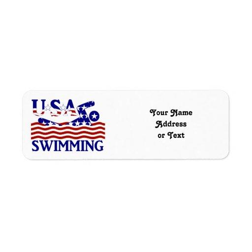 USA Swimming Return Address Label