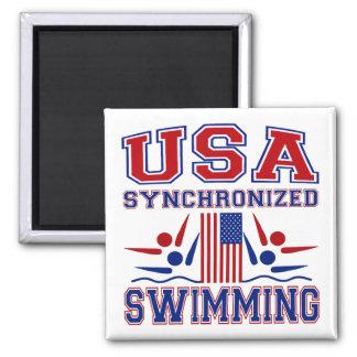 USA Synchronized Swimming Magnet