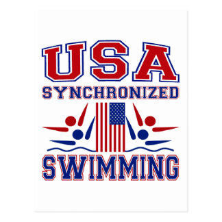 USA Synchronized Swimming Postcard