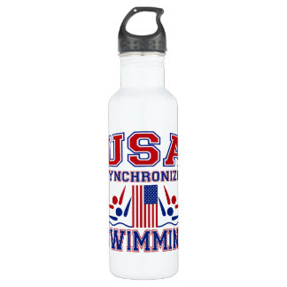 USA Synchronized Swimming Stainless Steel Water Bottle