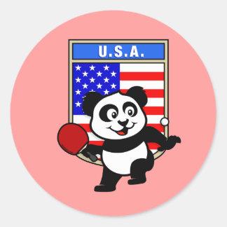 USA Table Tennis Panda Classic Round Sticker