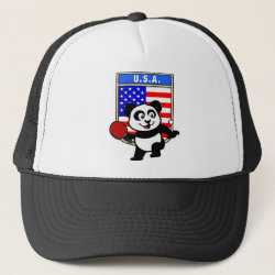 USA Table Tennis Panda Trucker Hat
