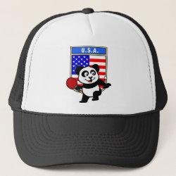 Trucker Hat with USA Table Tennis Panda design