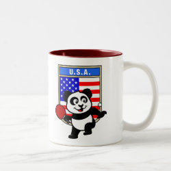 Two-Tone Mug with USA Table Tennis Panda design