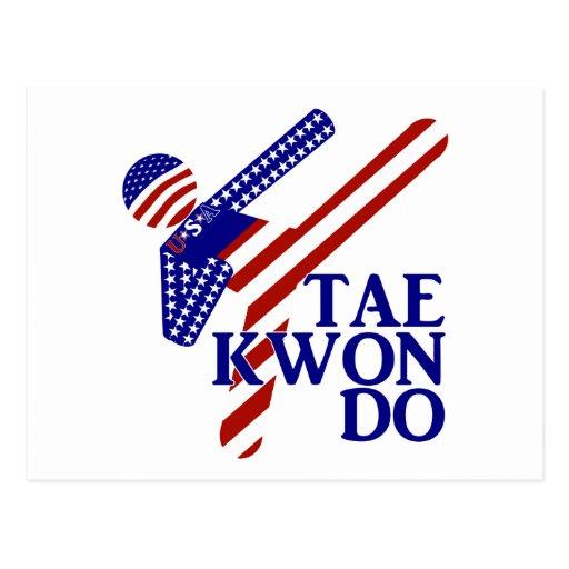 USA Tae Kwon-do Kick (2) Postcard