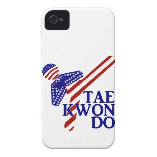 USA Taekwondo Kick (1) Case-Mate iPhone 4 Case