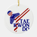 USA Taekwondo Kick (1) Christmas Tree Ornament