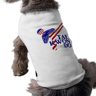 USA Taekwondo Kick (1) Pet Tshirt