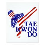 USA Taekwondo Kick (1) 4.25x5.5 Paper Invitation Card
