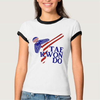 USA Taekwondo Kick (1) T-Shirt