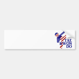 USA Taekwondo Kick (2) Bumper Sticker