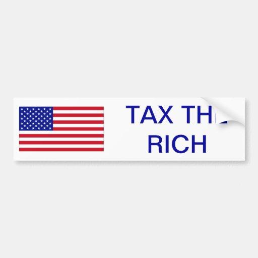 USA: Tax the Rich Car Bumper Sticker