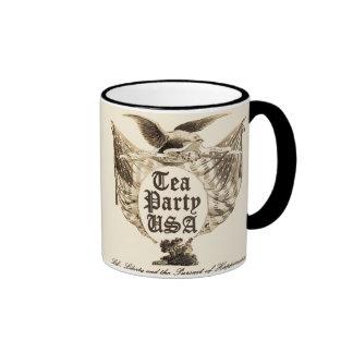 USA Tea Party Revolt Ringer Mug