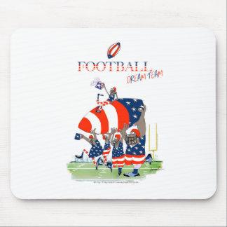 USA team work, tony fernandes Mouse Pad
