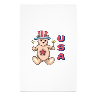 USA Teddy Bear Stationery