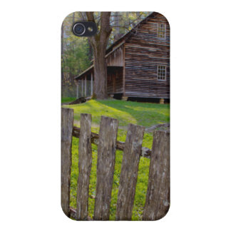 USA, Tennessee, Cabin In Cades Cove Cover For iPhone 4