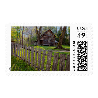 USA, Tennessee, Cabin In Cades Cove Postage Stamp