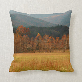 USA, Tennessee. Cades Cove In Smoky Mountain Throw Pillows