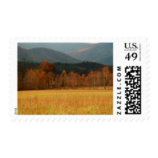 USA, Tennessee. Cades Cove In Smoky Mountain Stamp